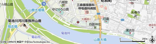 熊本県山鹿市宗方周辺の地図