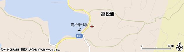 大分県佐伯市高松浦584周辺の地図
