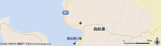 大分県佐伯市高松浦676周辺の地図