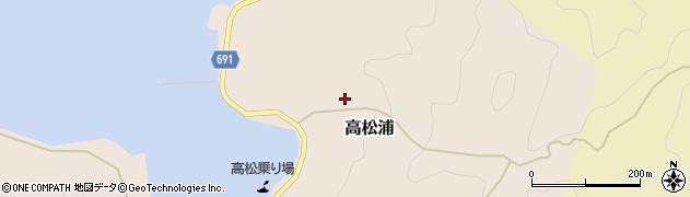 大分県佐伯市高松浦高松区周辺の地図