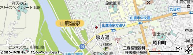 熊本県山鹿市宗方通周辺の地図