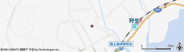 大分県佐伯市狩生122周辺の地図