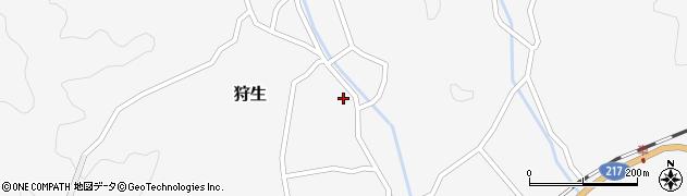 大分県佐伯市狩生472周辺の地図