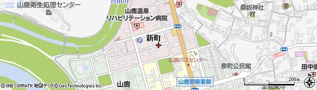 熊本県山鹿市新町周辺の地図
