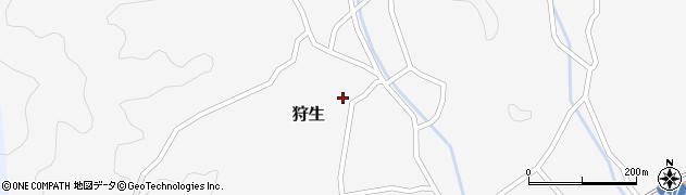 大分県佐伯市狩生707周辺の地図