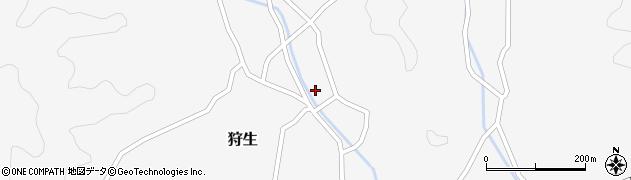 大分県佐伯市狩生1392周辺の地図
