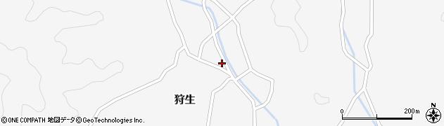 大分県佐伯市狩生751周辺の地図