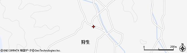 大分県佐伯市狩生738周辺の地図