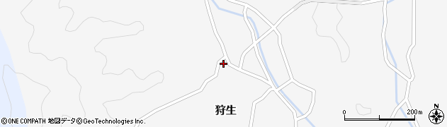 大分県佐伯市狩生731周辺の地図