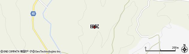 熊本県産山村(阿蘇郡)田尻周辺の地図