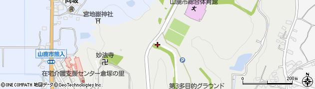 熊本県山鹿市熊入町周辺の地図