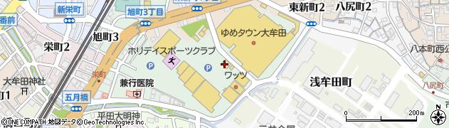 マイまくらゆめタウン 大牟田店周辺の地図