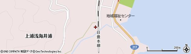 大分県佐伯市上浦大字浅海井浦557周辺の地図