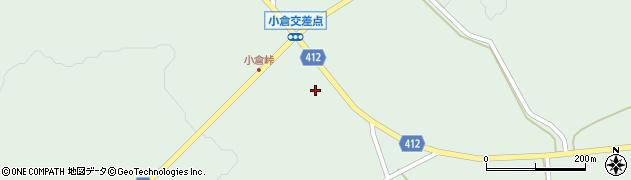 大分県竹田市久住町大字栢木小倉周辺の地図