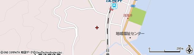 大分県佐伯市上浦大字浅海井浦4区周辺の地図