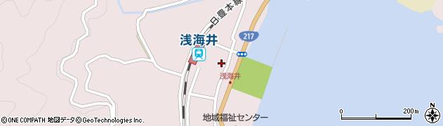 大分県佐伯市上浦大字浅海井浦457周辺の地図
