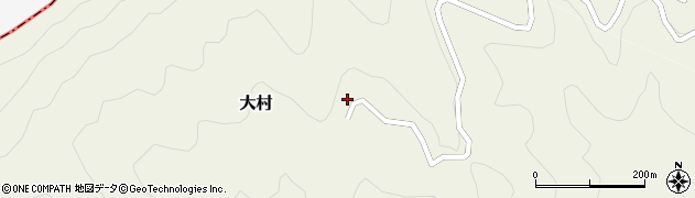 大分県津久見市八戸周辺の地図
