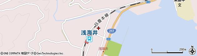大分県佐伯市上浦大字浅海井浦389周辺の地図