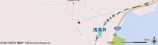 大分県佐伯市上浦大字浅海井浦673周辺の地図