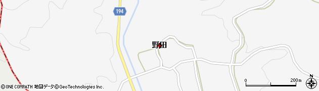 熊本県和水町(玉名郡)野田周辺の地図