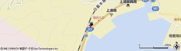 大分県佐伯市上浦大字津井浦2157周辺の地図