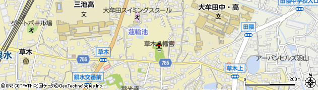草木八幡宮周辺の地図