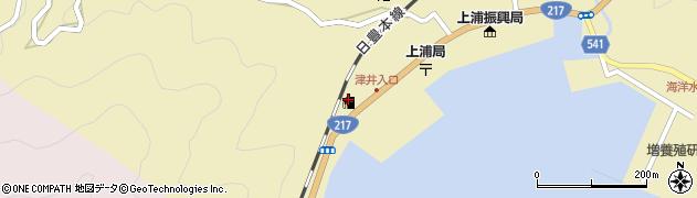 大分県佐伯市上浦大字津井浦2155周辺の地図