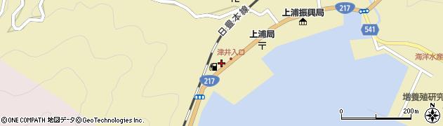 大分県佐伯市上浦大字津井浦2152周辺の地図