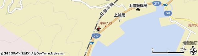 大分県佐伯市上浦大字津井浦2154周辺の地図