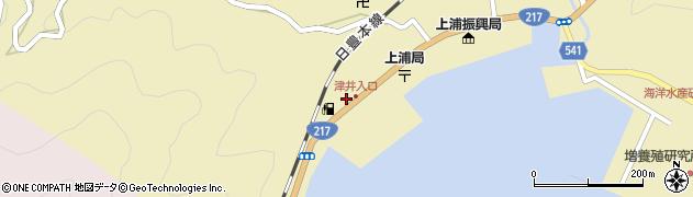 大分県佐伯市上浦大字津井浦2150周辺の地図