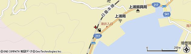 大分県佐伯市上浦大字津井浦2160周辺の地図