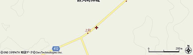 大分県竹田市直入町大字神堤8周辺の地図