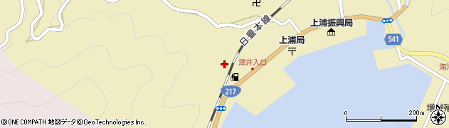 大分県佐伯市上浦大字津井浦2162周辺の地図