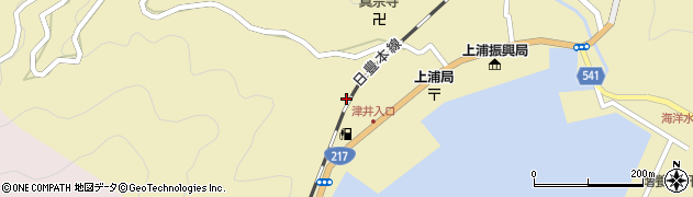 大分県佐伯市上浦大字津井浦2067周辺の地図