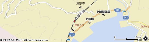 大分県佐伯市上浦大字津井浦2084周辺の地図