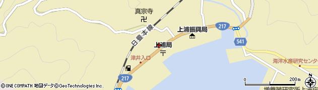 大分県佐伯市上浦大字津井浦2132周辺の地図