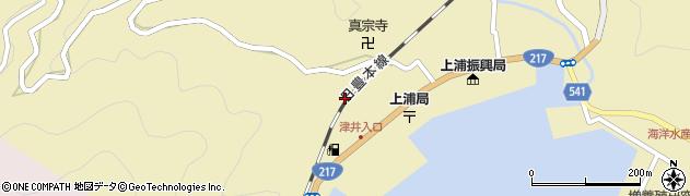 大分県佐伯市上浦大字津井浦2089周辺の地図