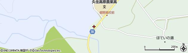 大分県竹田市久住町大字栢木5565周辺の地図