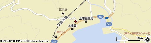 大分県佐伯市上浦大字津井浦1461周辺の地図