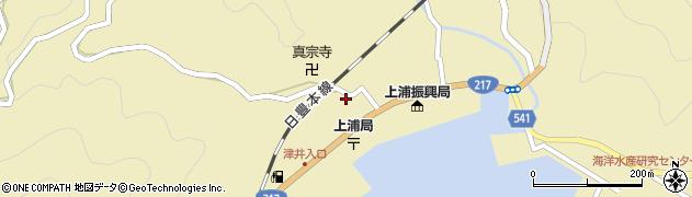 大分県佐伯市上浦大字津井浦1478周辺の地図