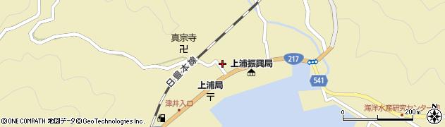 大分県佐伯市上浦大字津井浦1458周辺の地図