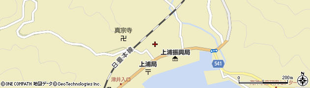 大分県佐伯市上浦大字津井浦2区周辺の地図