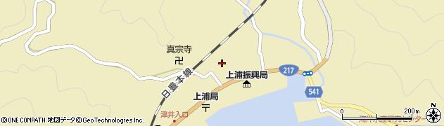 大分県佐伯市上浦大字津井浦1446周辺の地図