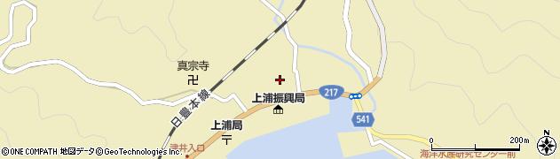 大分県佐伯市上浦大字津井浦1420周辺の地図