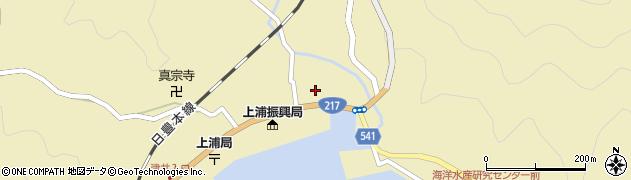 大分県佐伯市上浦大字津井浦1397周辺の地図