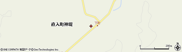 大分県竹田市直入町大字神堤周辺の地図