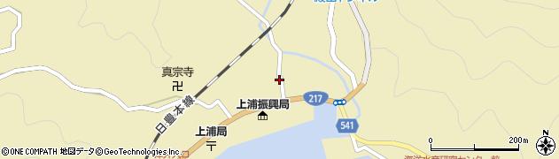大分県佐伯市上浦大字津井浦1408周辺の地図
