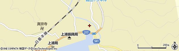 大分県佐伯市上浦大字津井浦1380周辺の地図