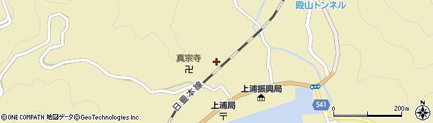 大分県佐伯市上浦大字津井浦1258周辺の地図