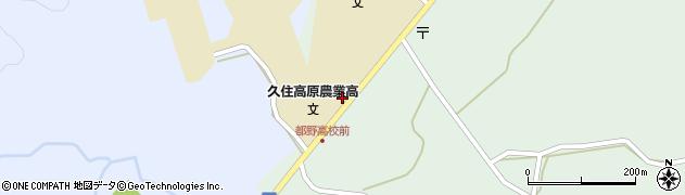 大分県竹田市久住町大字栢木5796周辺の地図